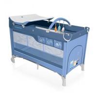 Baby Design Dream 03 blue 2016 - Patut pliabil cu 2 nivele
