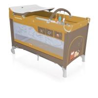 Baby Design Dream 09 beige 2018 - Patut pliabil cu 2 nivele