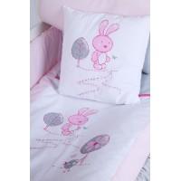 set lenjerie 3 piese Little Bunny gri-pink