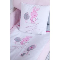 set lenjerie 4 piese Little Bunny gri-pink