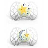 AIR 55suzeta de noapte ortodontica 6 luni+ - alba - 7082