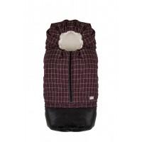 Carry On sac de iarna 80 cm - Checkered cranberry/Beige - 9845