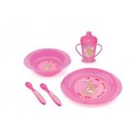 set de masa pentru copii mici 4 buc. pink - 1495