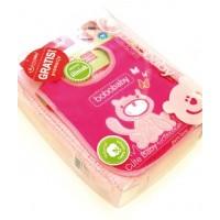 Set cadou SET-6 pink Paturica bumbac si bavetica in cutie