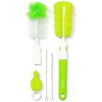 Perie biberoane si tetine cu accesorii - Verde