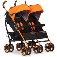 Carucior pentru gemeni Duo Comfort - Electric Orange