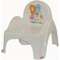 Olita tip scaunel muzical Little Princess - Alb