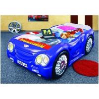 Pat masina copii Sleep Car - Albastru